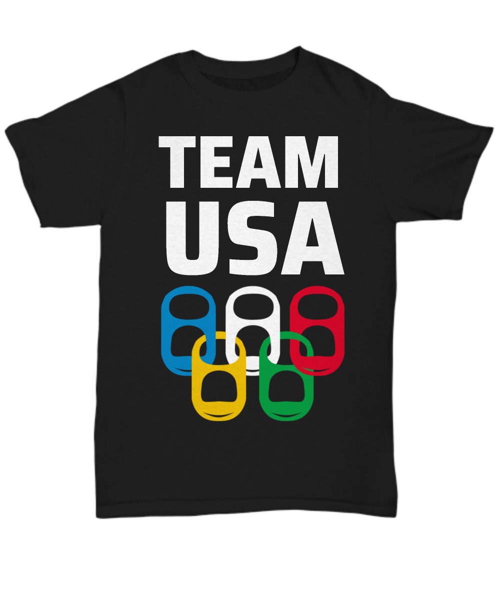 Team USA Drinking Game Party T-Shirt Beer Olympics Theme