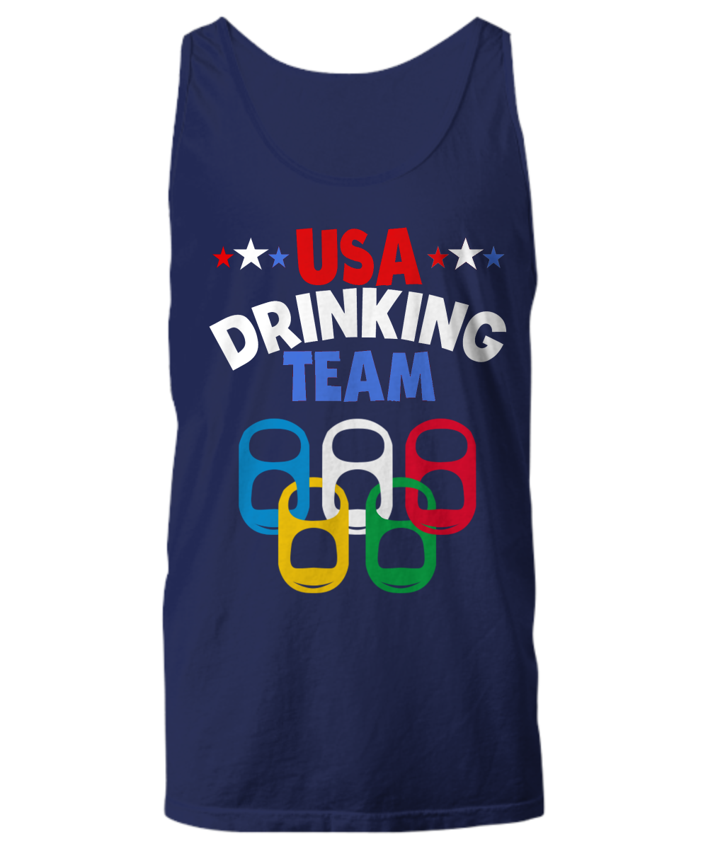 ... $16.95 USA Drinking Team Sport Tank Top Beer Olympic Theme