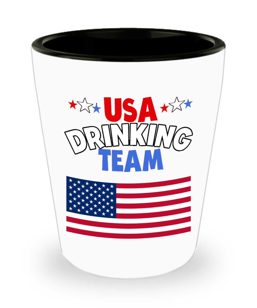 USA Drinking Team Shot Glass America Theme