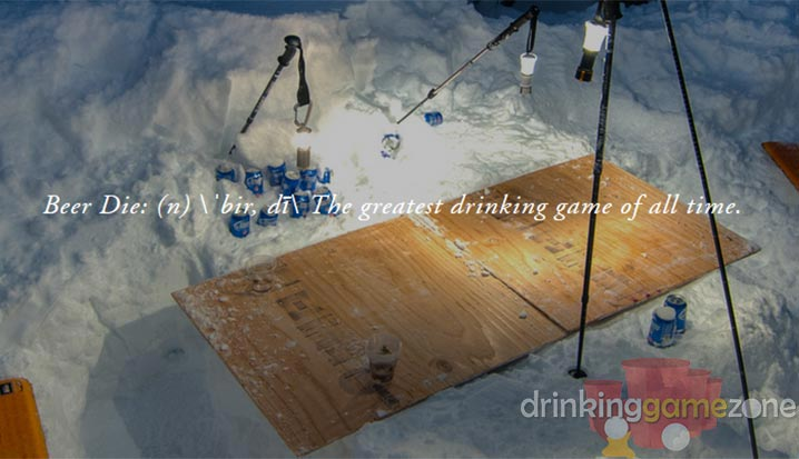 Die Drinking Game - Four corners drinking game