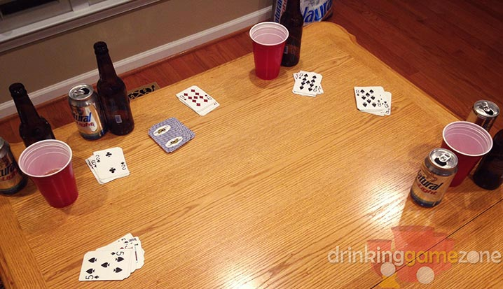 Drinking Game - Four corners drinking game