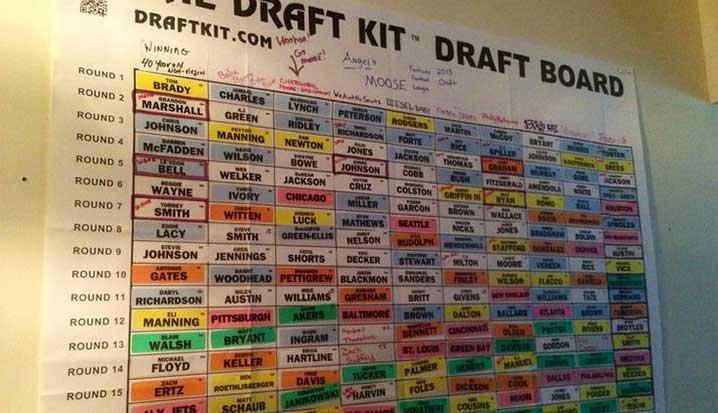 Fantasy Football Draft Drinking Game