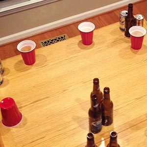Batavia Downs Flip Cup Drinking Game