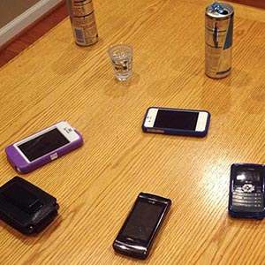 Cell Phone Roulette Drinking Game