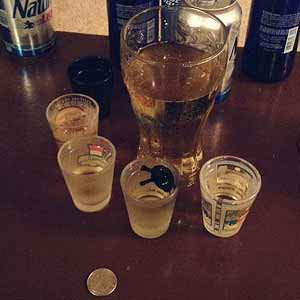 Chandeliers (Coin) Drinking Game