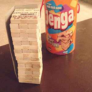 Strip Jenga Drinking Game